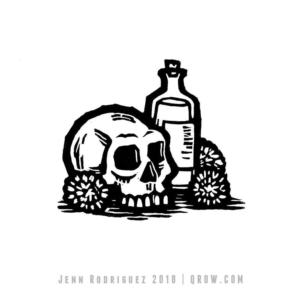 skull&bottle